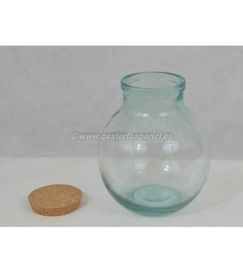 Garrafa vidrio boca ancha