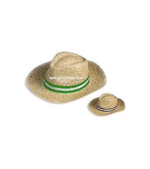Sombrero de paja con cinta hombre