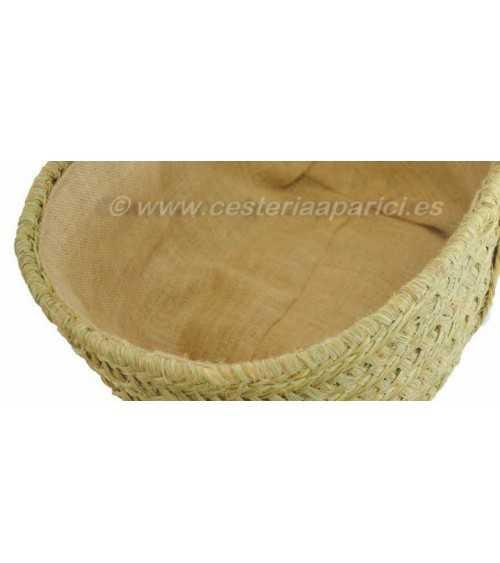 Capazo esparto oval forro arpillera/yute