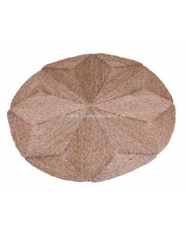 Alfombra redonda de fibra vegetal