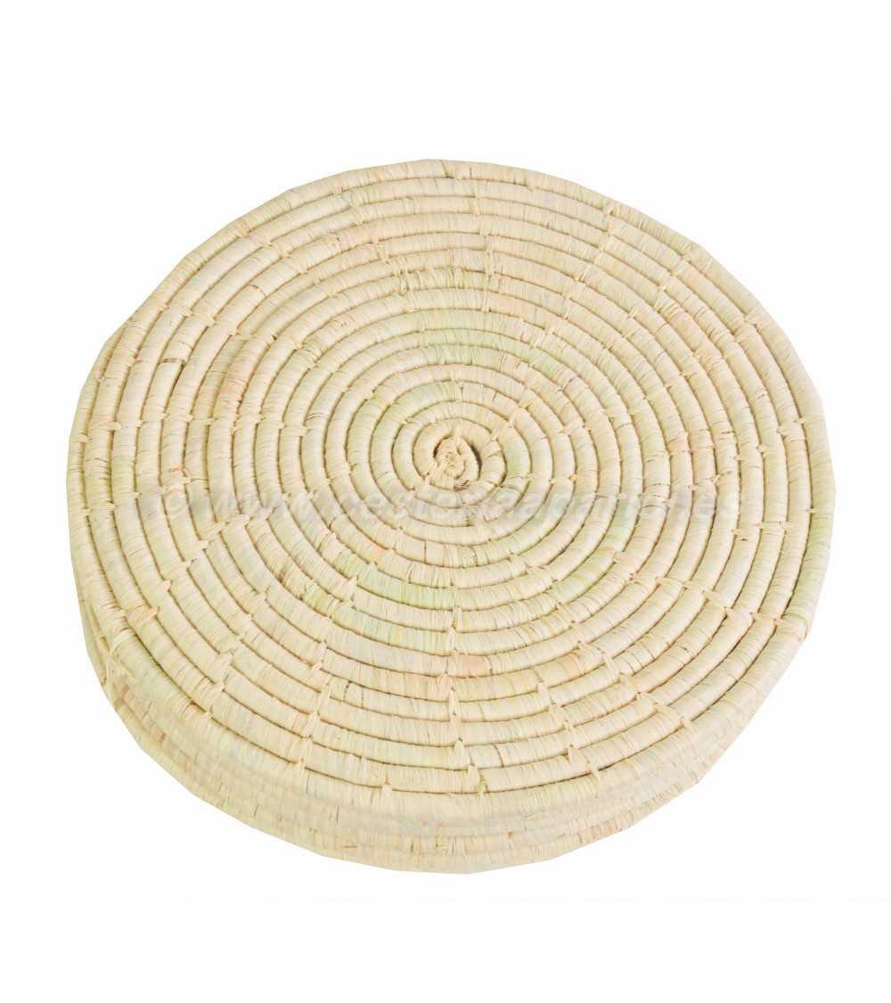 Salvamantel  redondo de fibras naturales