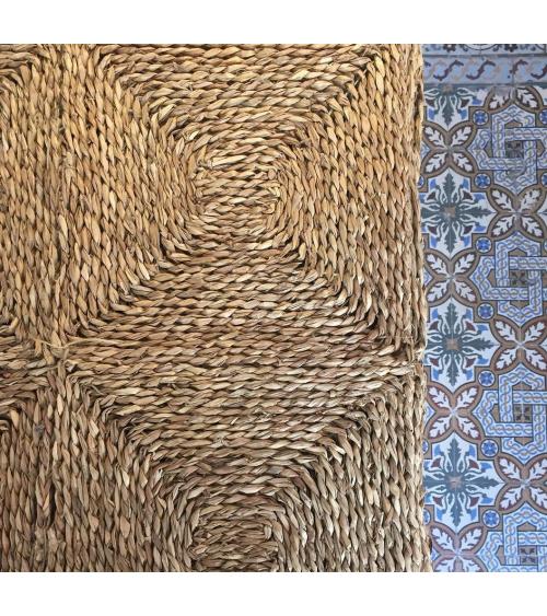 Alfombra rectangular de fibra vegetal