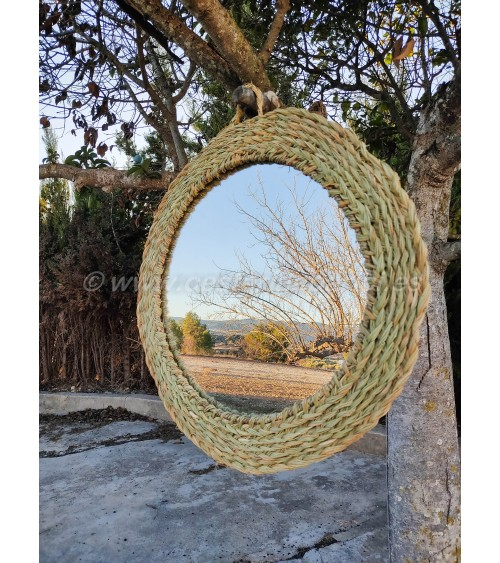 Espejo de esparto Mombasa